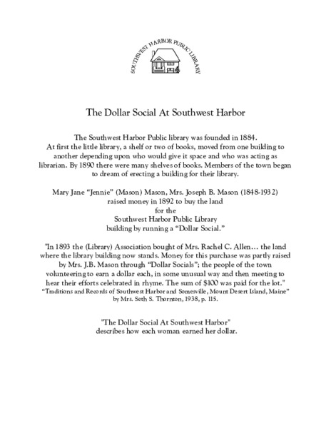 The Dollar Social at Southwest Harbor