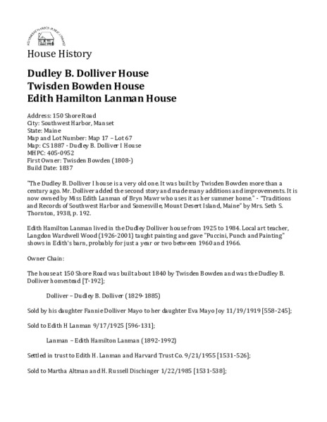 Dudley B. Dolliver I House