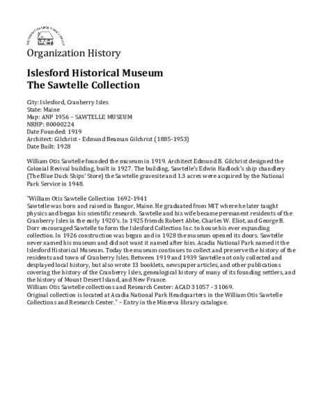 Islesford Historial Museum