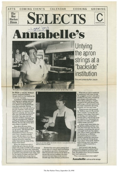 """Annabelle's: Untying the Apron Strings at a """"Backside"""" Institution"""