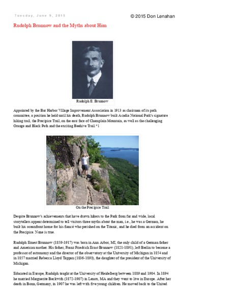 Rudolph Brunnow and the Myths about Him