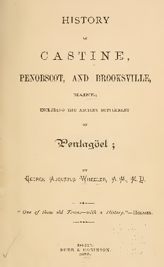 Excerpts about the State Normal School at Castine, Maine