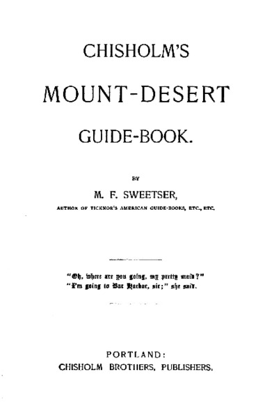 Chisholms Mount Desert Guide Book, page 72