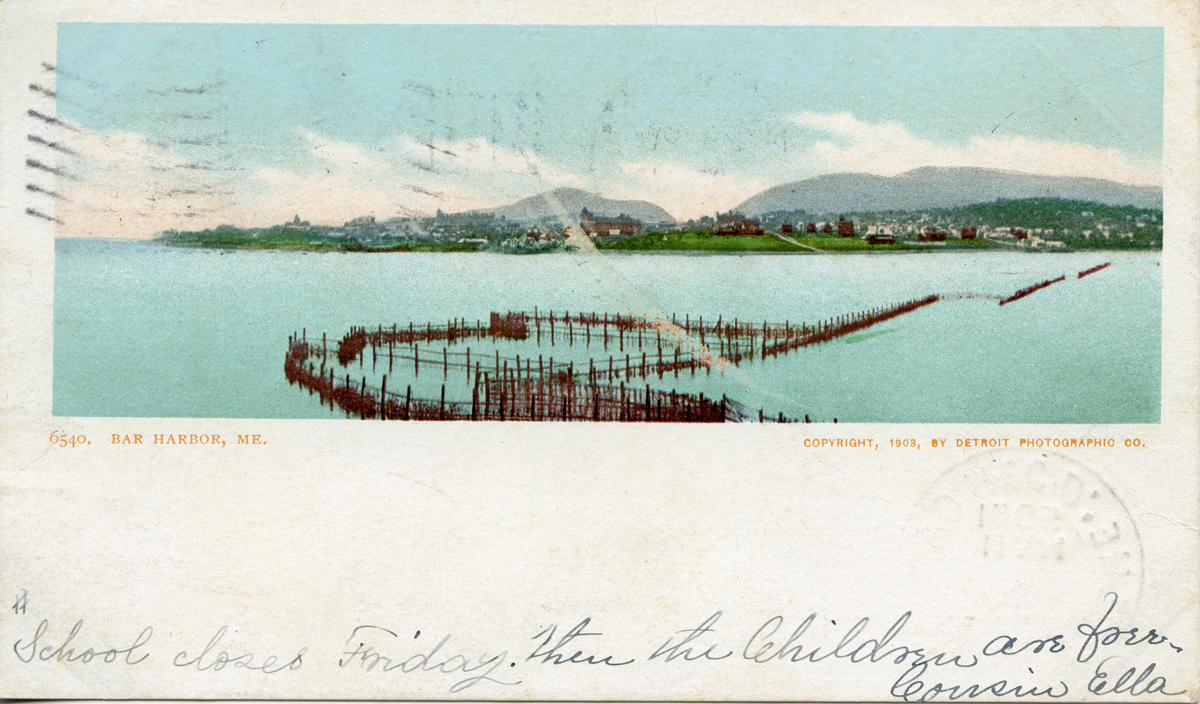 View of Eden, Maine with a Weir in the Foreground