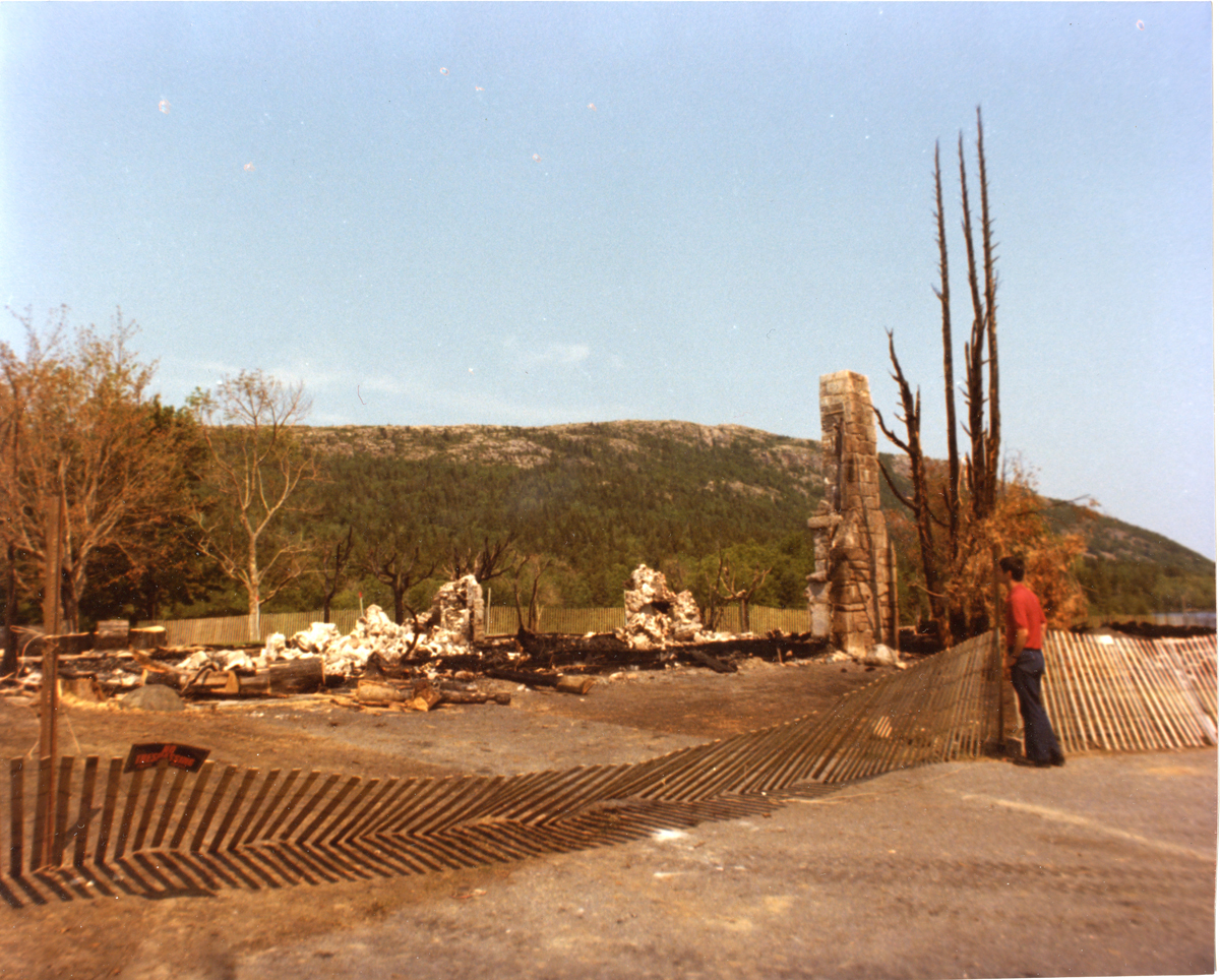 The Jordan Pond House After the Fire