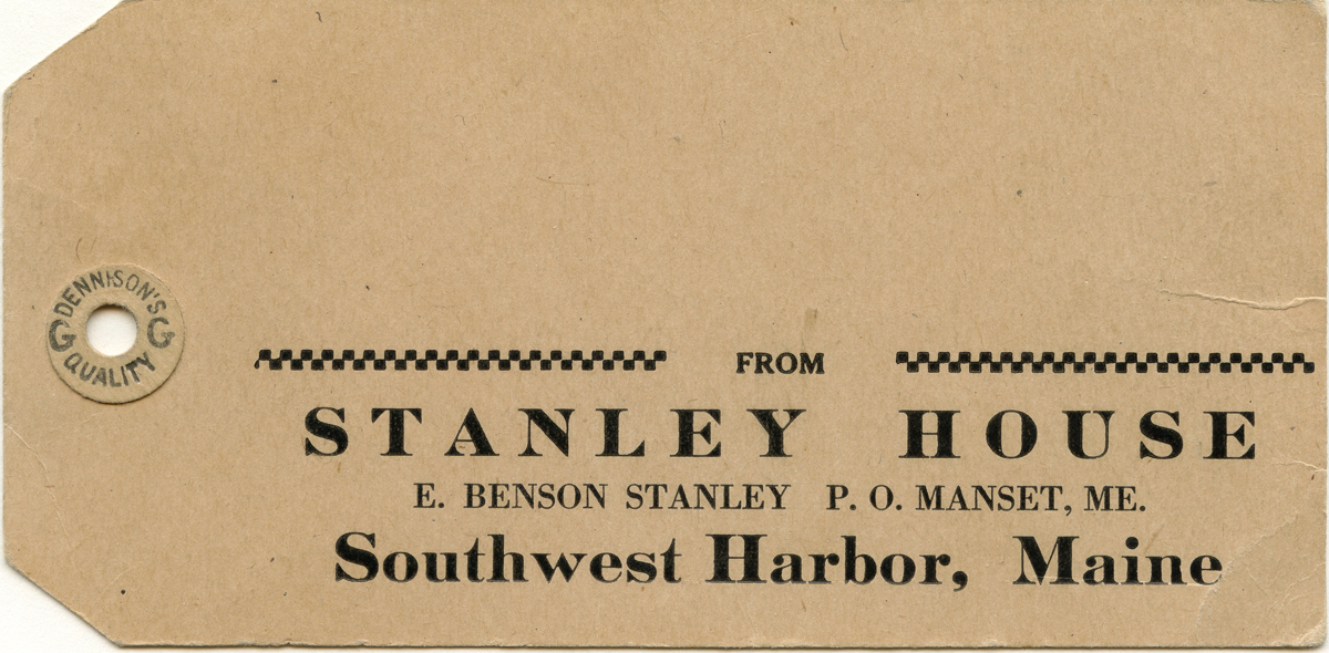 Luggage Tag from the Stanley House