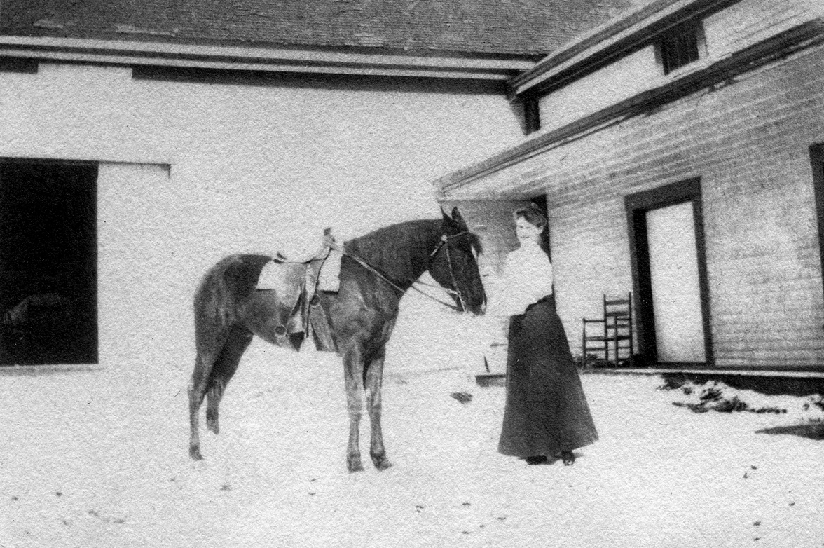 Nell Rebecca (Carroll) Thornton and Prince at Home in Houlton, Maine