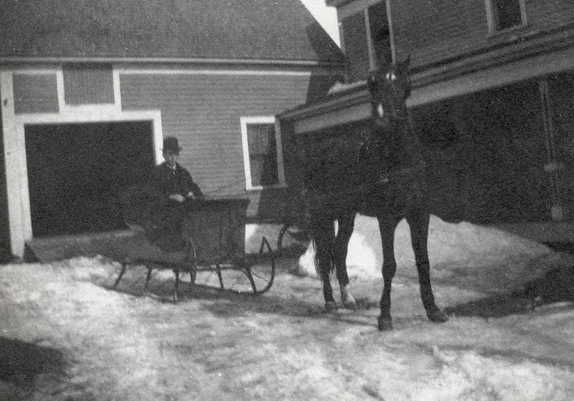 Ernest in Sleigh with Prince