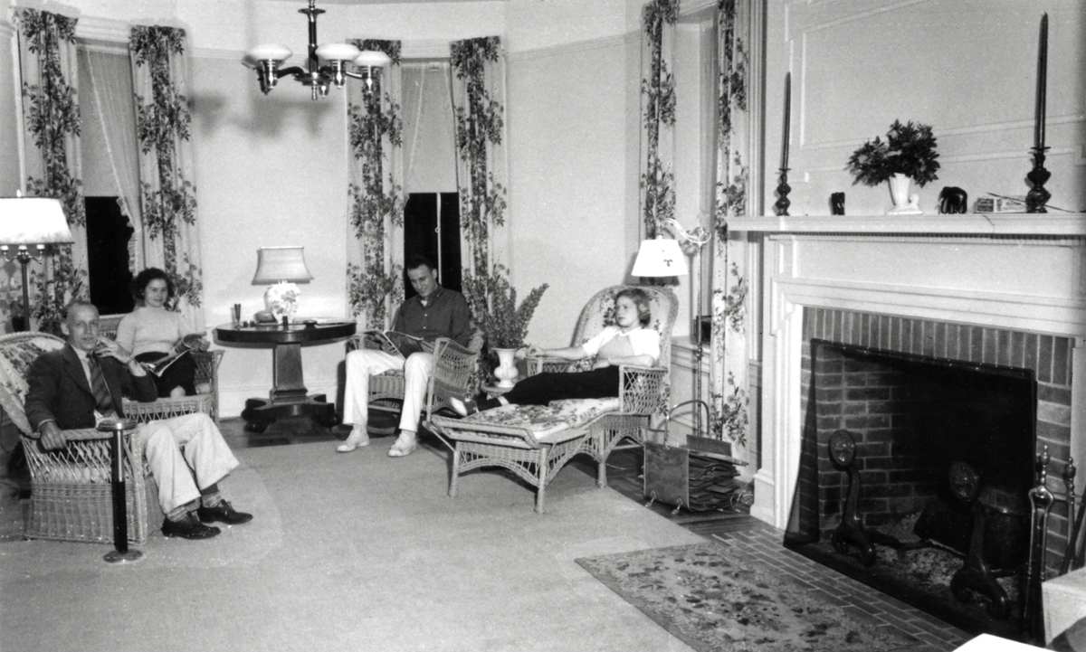 Samuel Champion Cooper's Cottage - The Larches - The Rogers Family in the Living Room