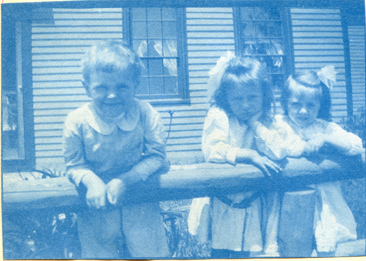 Two Children with Eleanor Lucille Clark at Rebecca (Whitmore) Lurvey Carroll's House on High Road