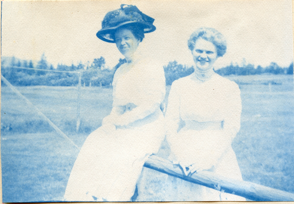 """Katherine """"Kate"""" Carroll, later Mrs. George Edwin Bacon and Anna Beatrice Carroll, later Mrs. Carl Edward Kelley"""