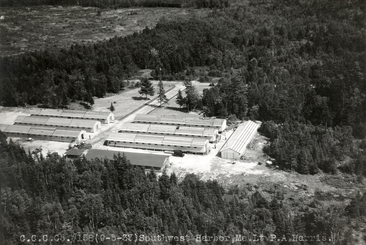 Aerial View of Great Pond CCC Camp
