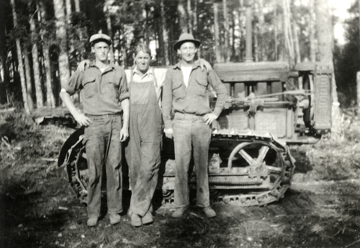 CCC Members With Tractor