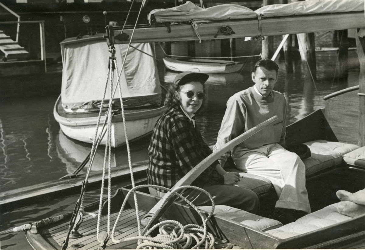 The Henry R. Hinckley Company Sailboat,  Cyndy with Henry Rose Hinckley II Aboard in San Francisco