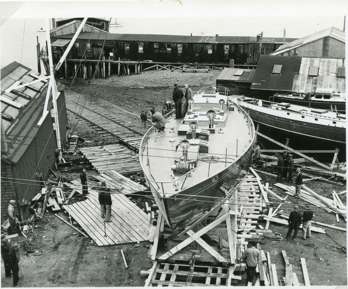 """Yawl """"Venturer"""" During the Construction Process"""