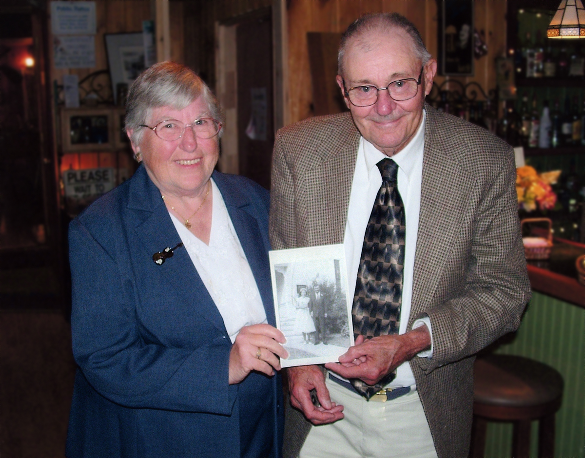 Ralph Warren Stanley and Marion Louise (Linscott) Stanley, Mr. and Mrs. Ralph Warren Stanley on their 50th Wedding Anniversary