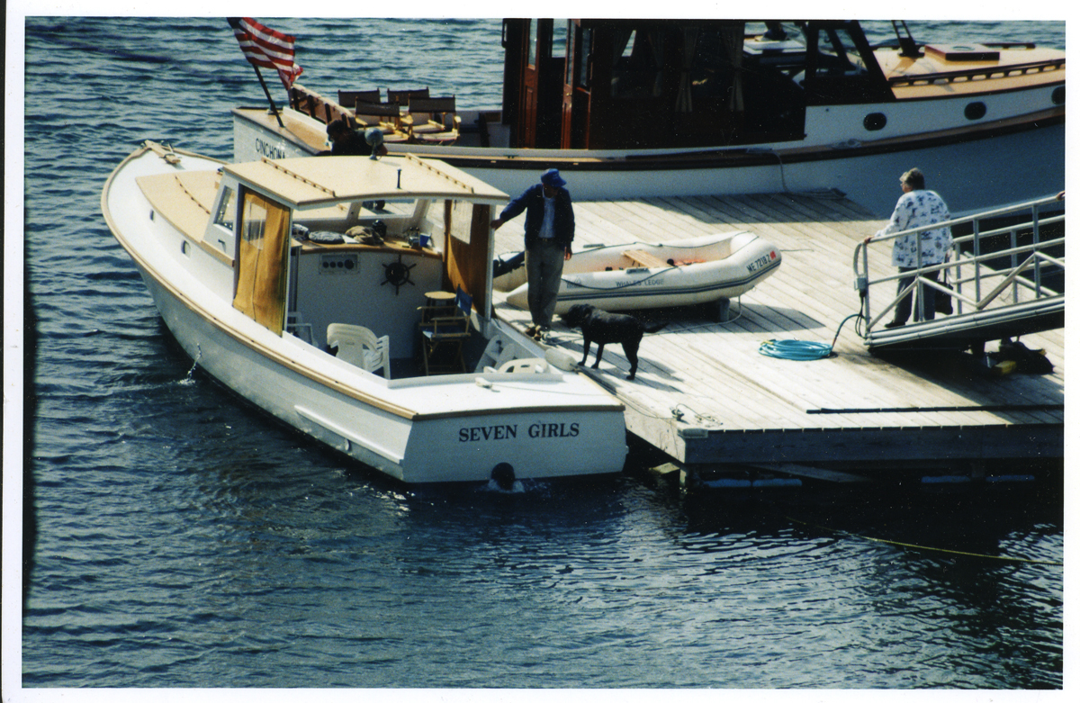 Ralph W. Stanley's Lobster Boat Seven Girls - Ralph and Marion Go Aboard