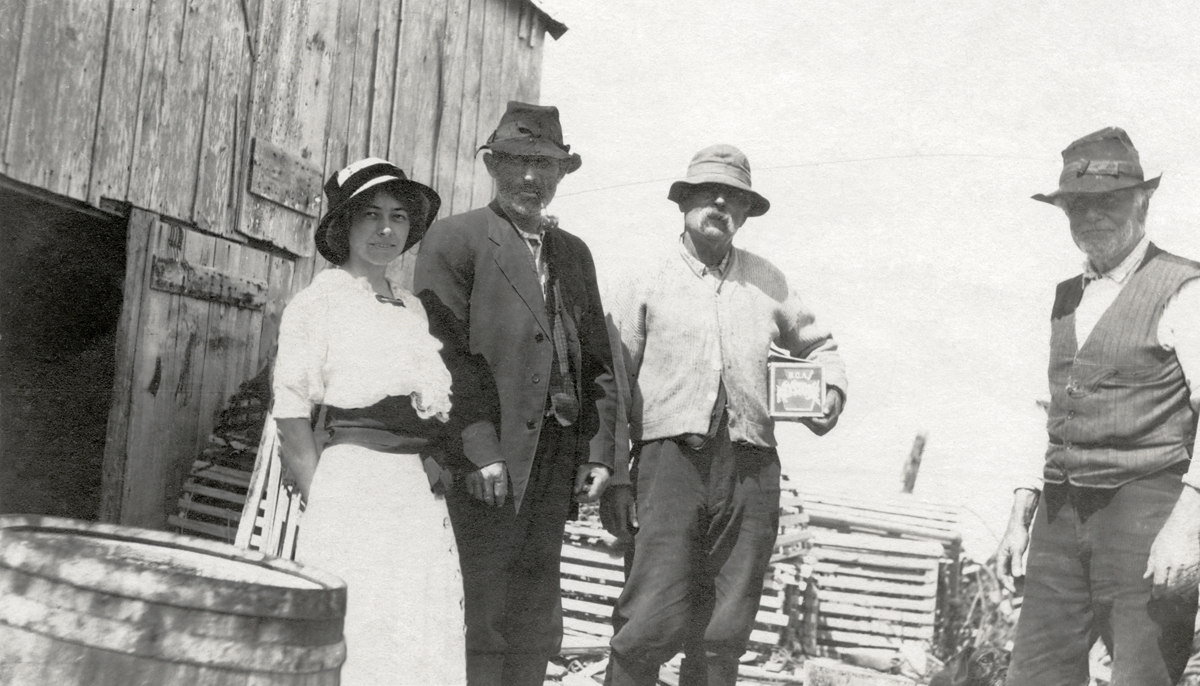 Charles Adelbert Gilley and Family at the William Gilley House on Bakers Island