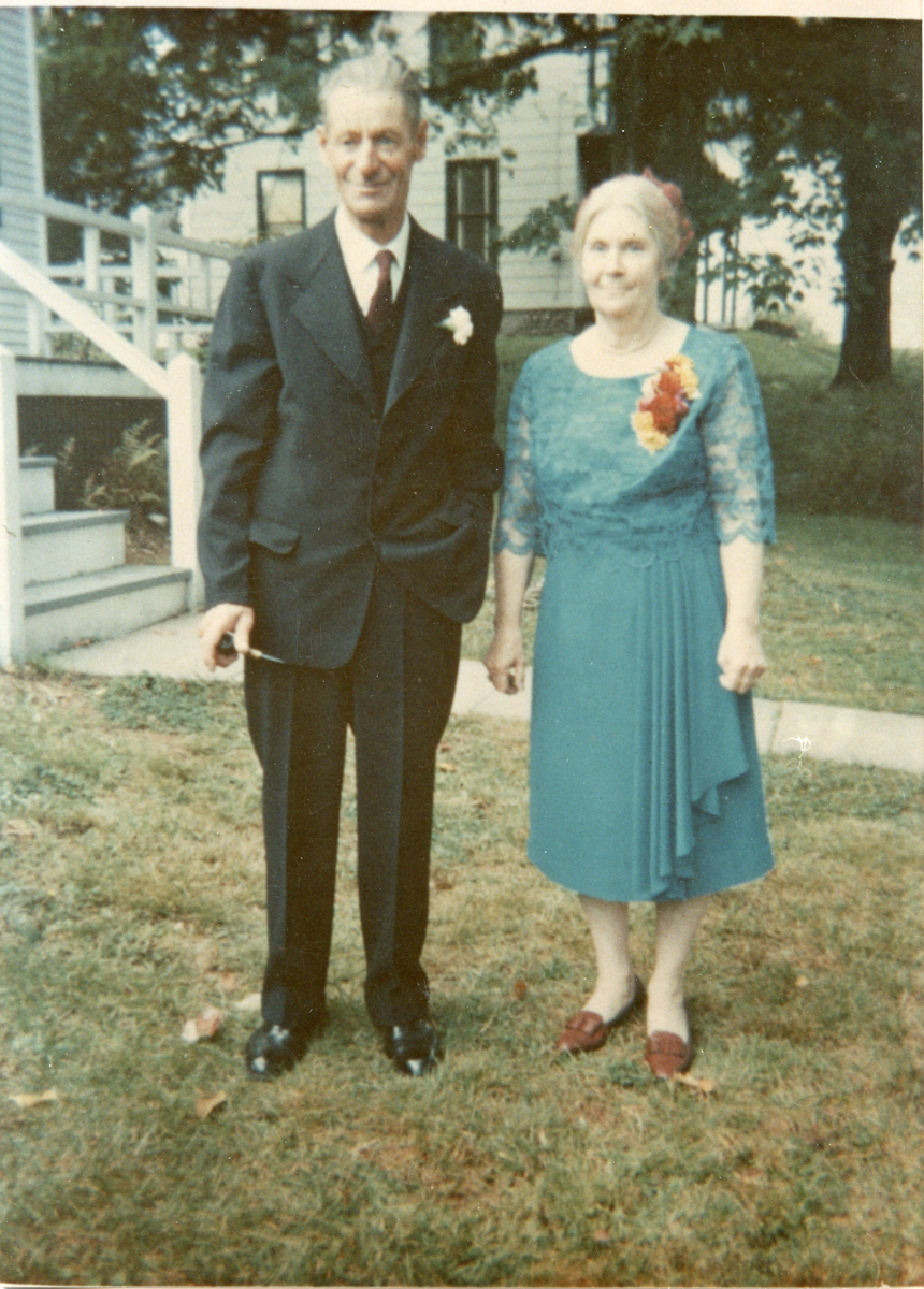 Chester Warren Stanley and Bertha Emily (Robinson) Stanley at Phoebe Rose Stanley's Wedding