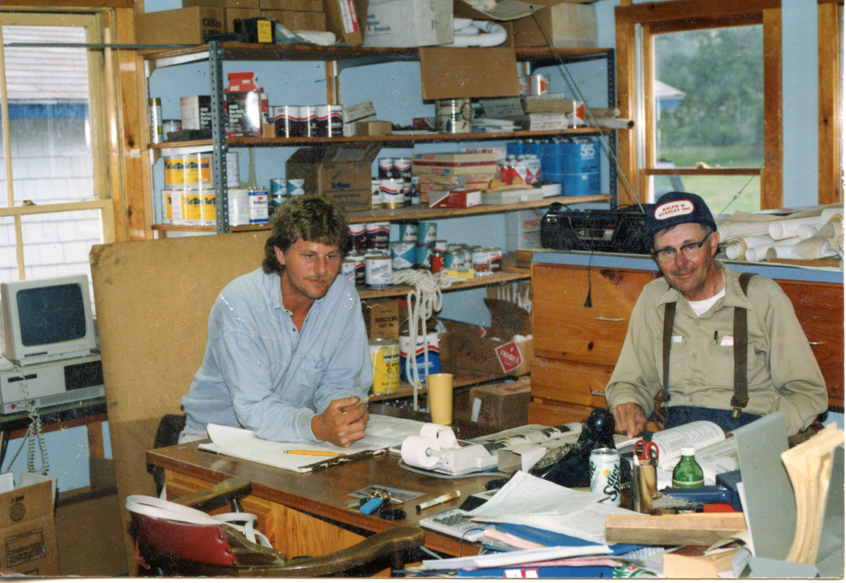 Richard Lewis Stanley and Ralph Warren Stanley in the Clark Point Office