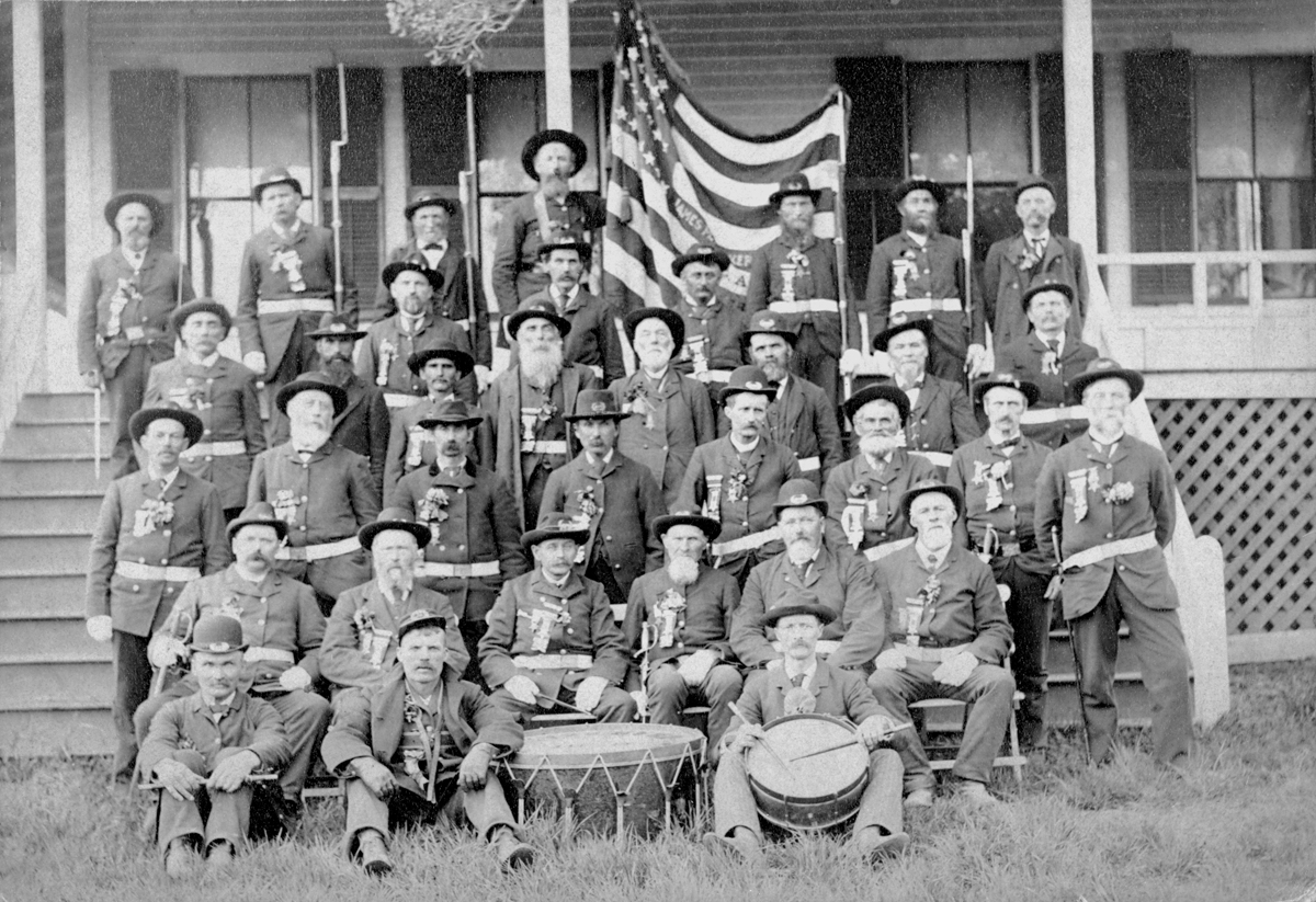 Members of James M. Parker G.A.R. Post #105 Assembled for Memorial Day at the Somes House Hotel