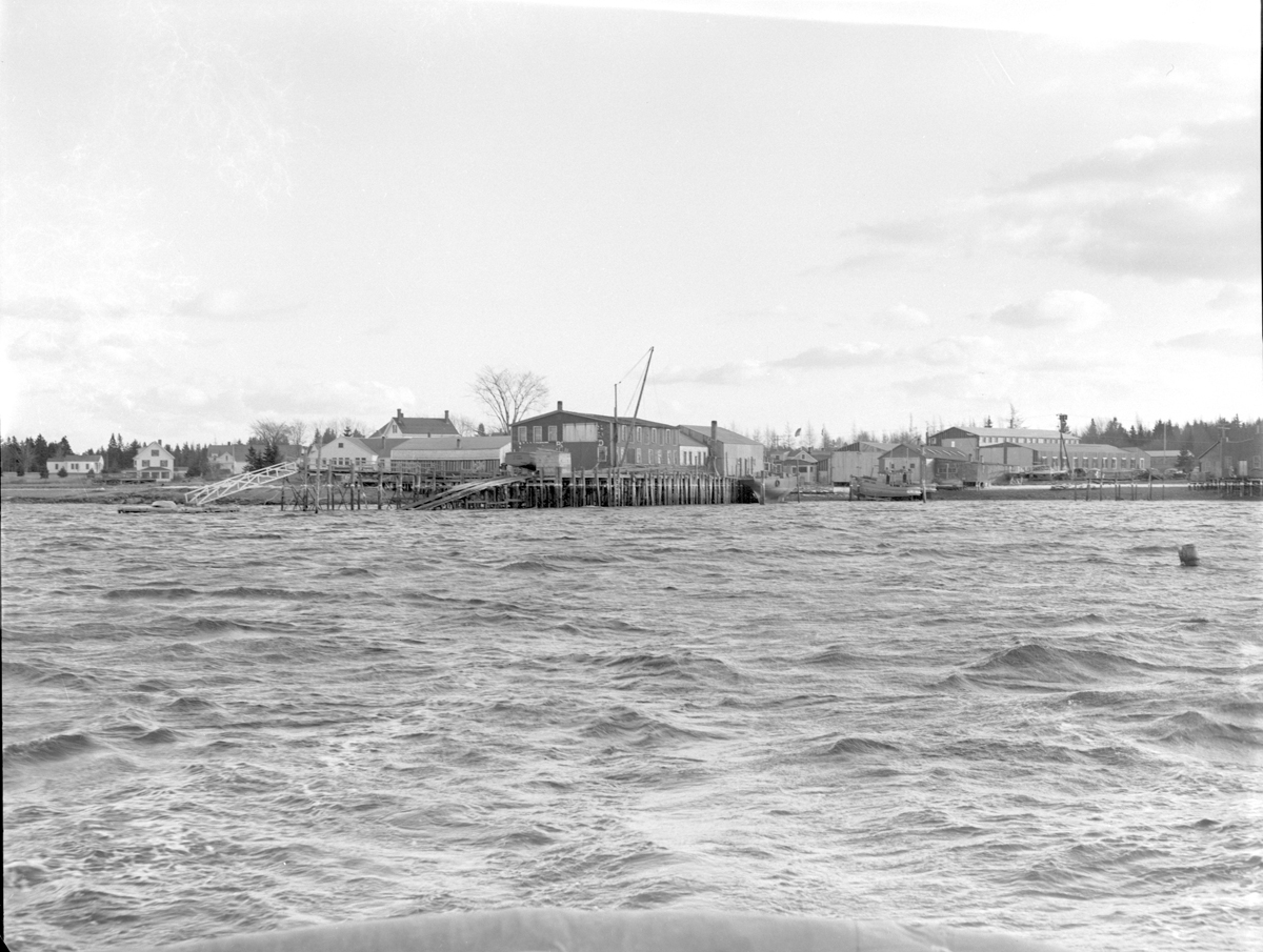 The Henry R. Hinckley Company - Manset Boat Sheds from the Water - Janusary 12, 1944