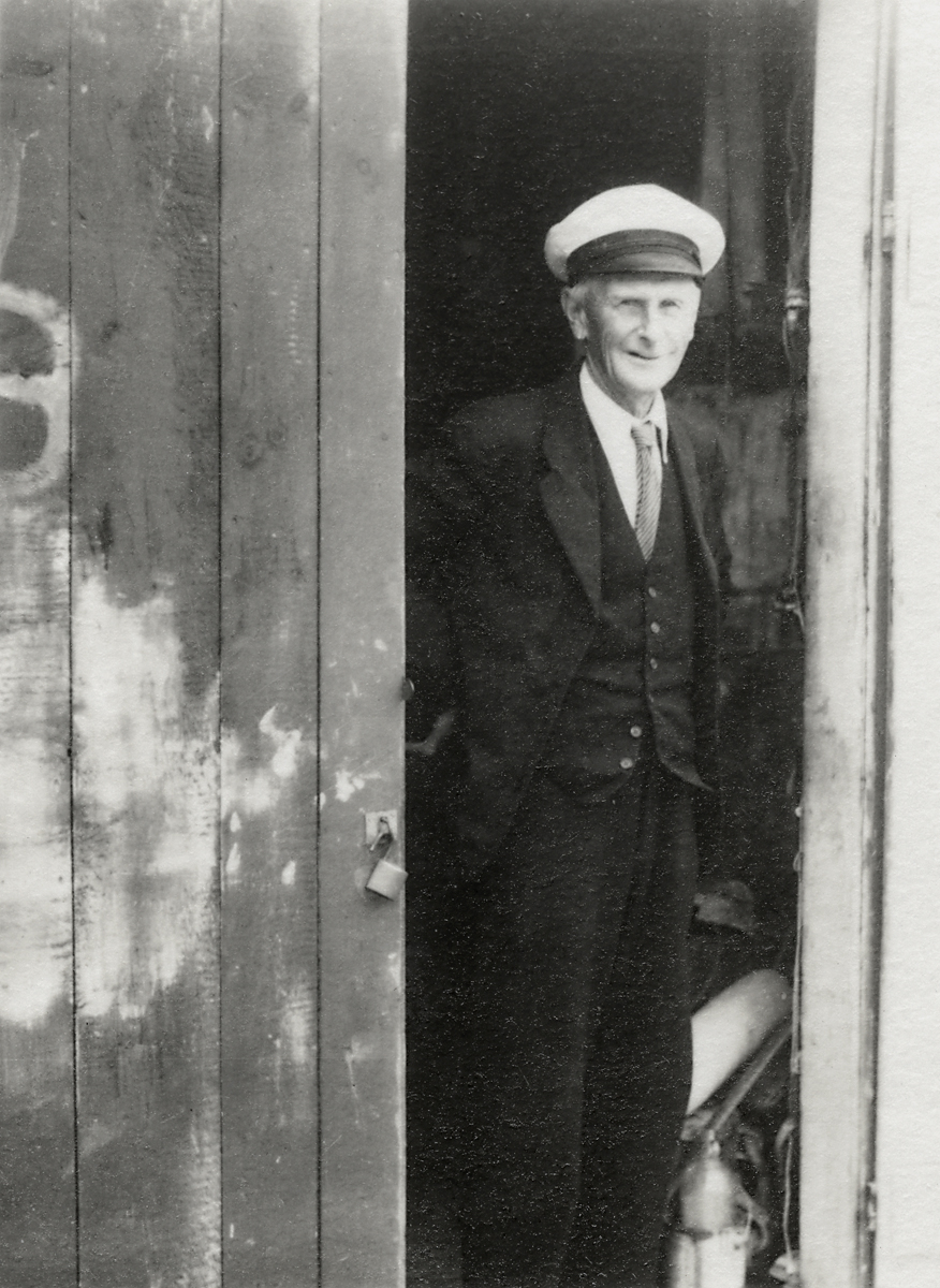 Lewis Gilley Stanley at the Door of His Boathouse on Cranberry Island
