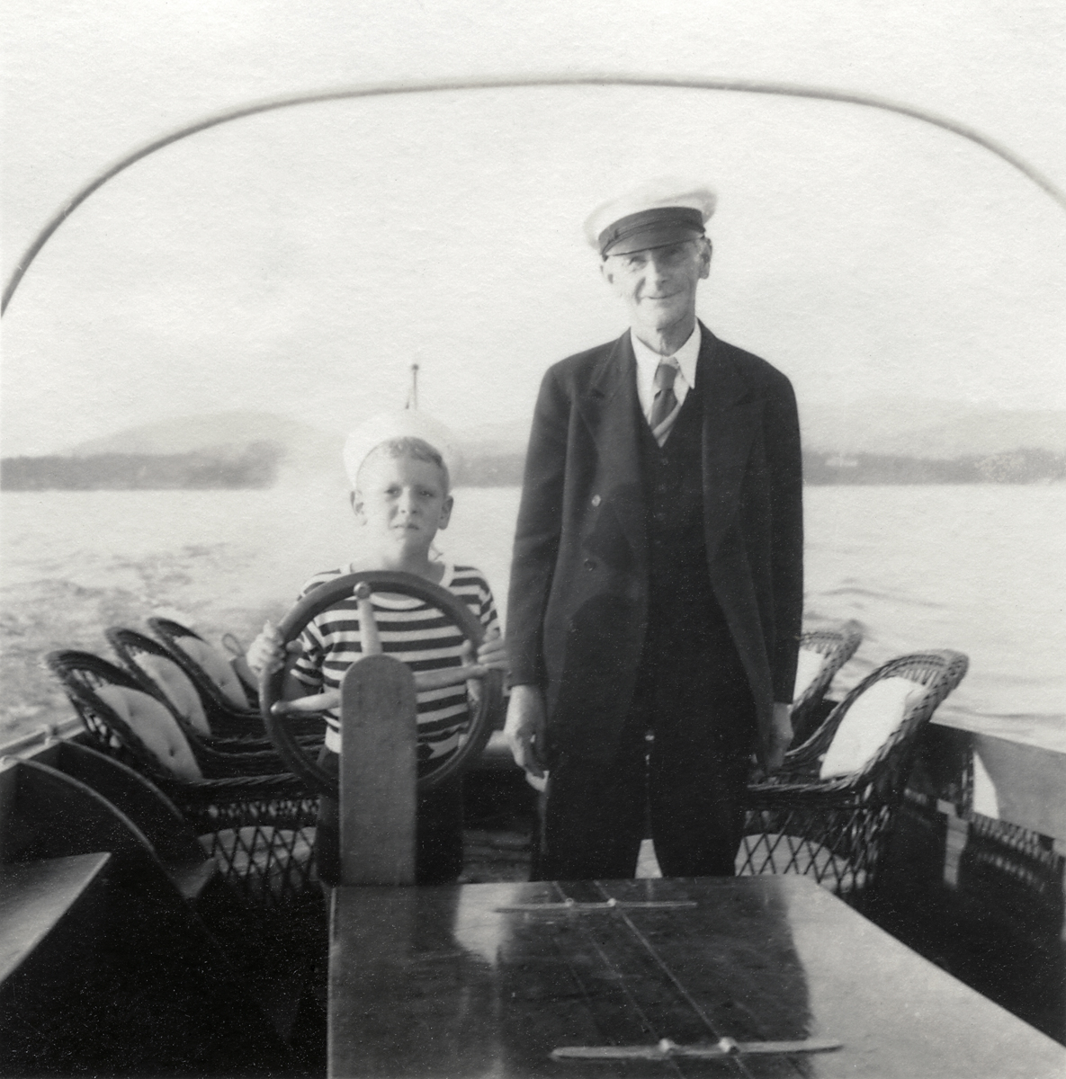 Albert Pancoast Neilson and Lewis Gilley Stanley Aboard Leader