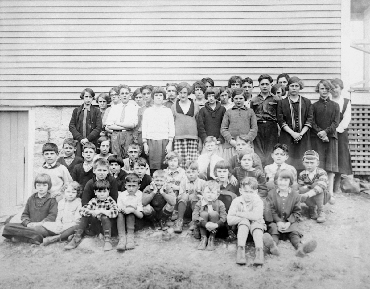 Students and Teacher at the Manset School