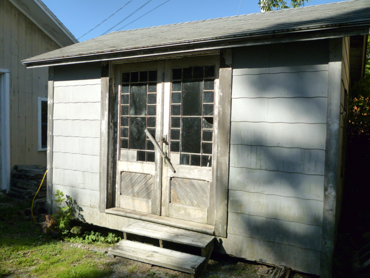 The William Doane Stanley / Ralph Warren Stanley House - Storage Shed with Doors from the Ocean House Hotel
