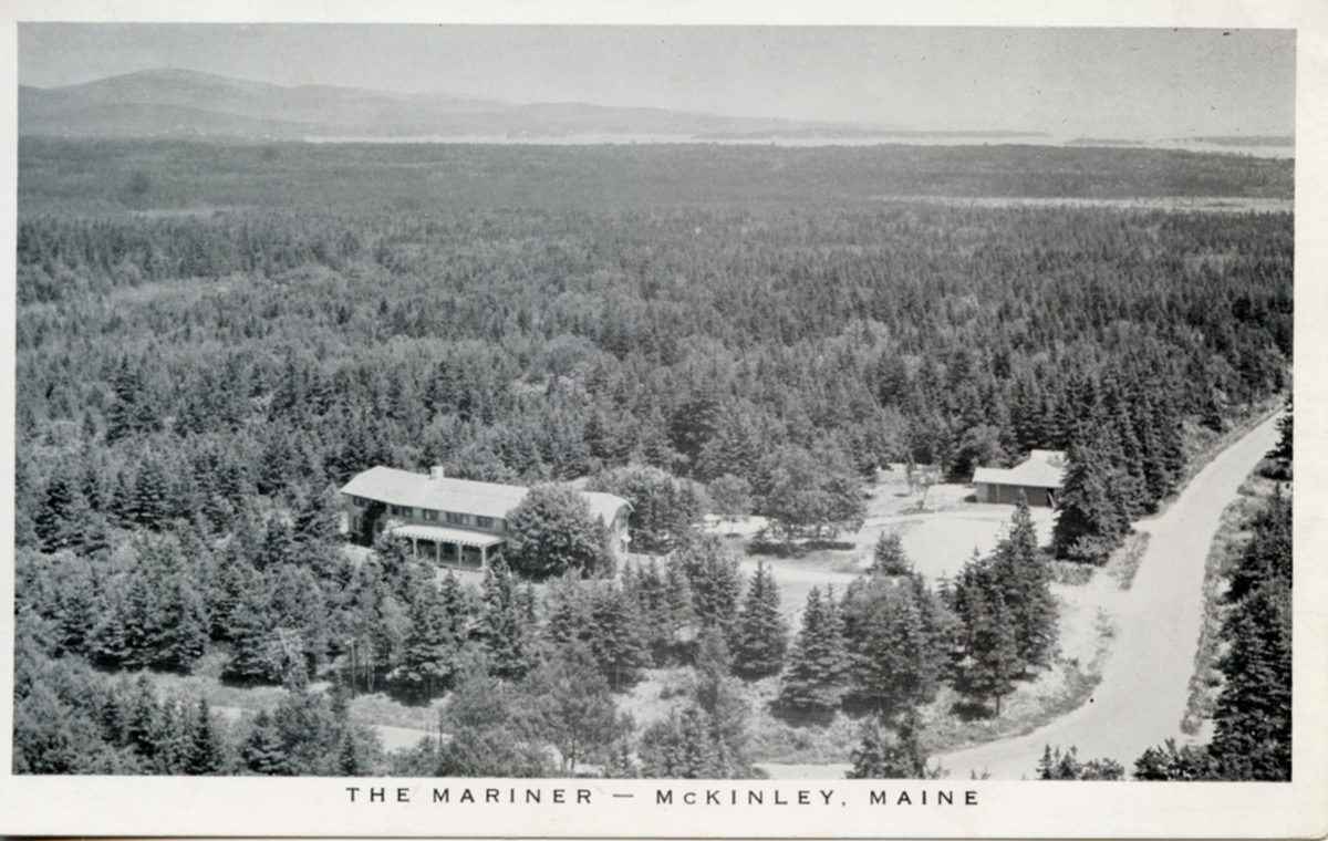 Aerial View of the Mariner Hotel, McKinley, Maine