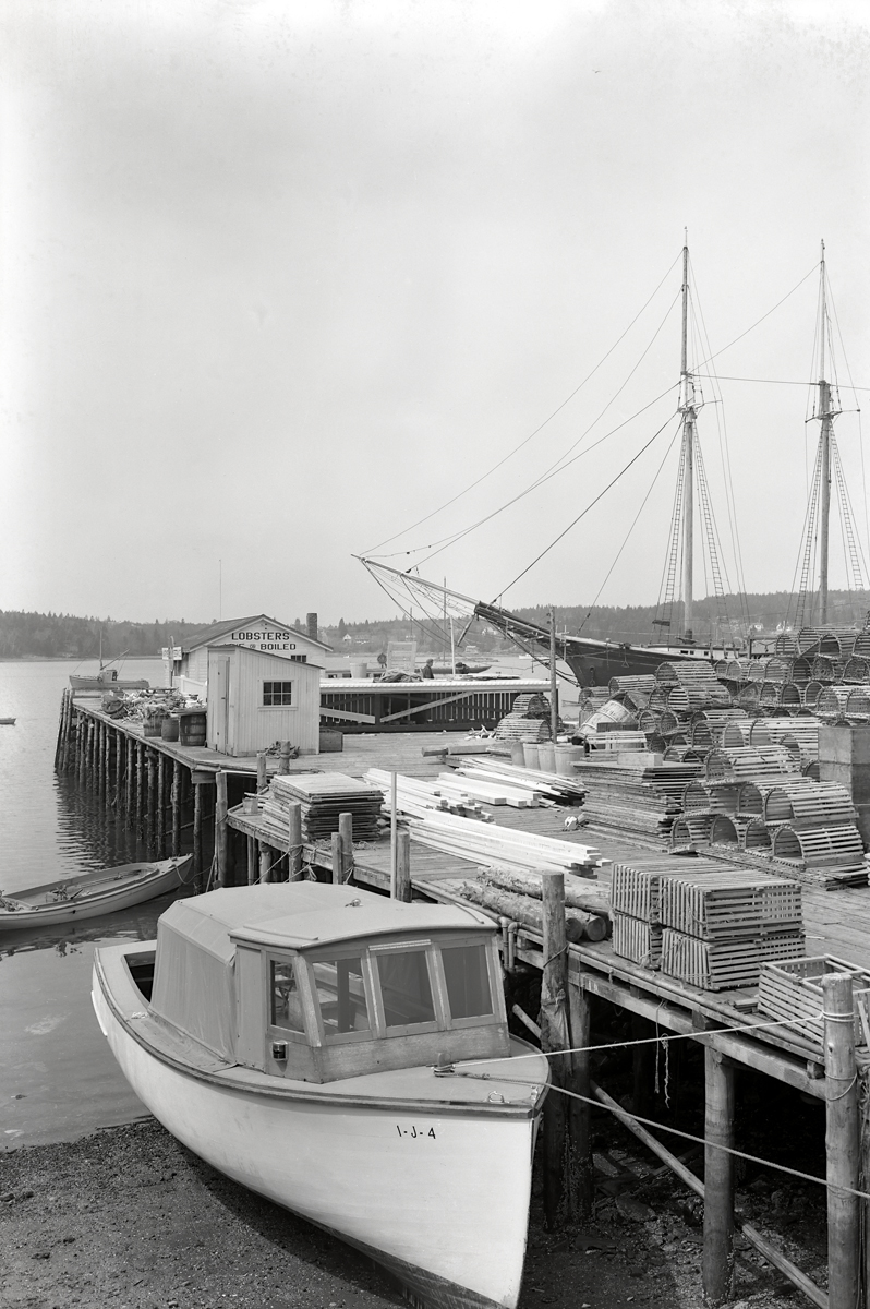 C.E. Clement Boatyard - Lobster Boat Three Brothers Built for Harvard Riley Beal