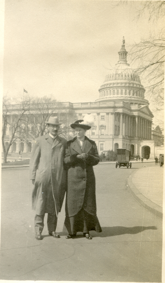 Nell and Seth Thornton at the U.S. Capitol