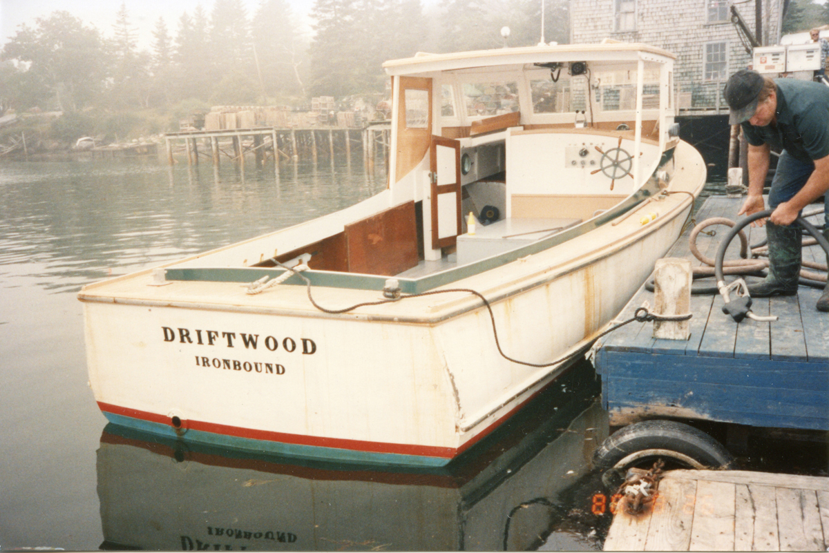 Lobster Boat Style Pleasure Boat Driftwood at Bass Harbor