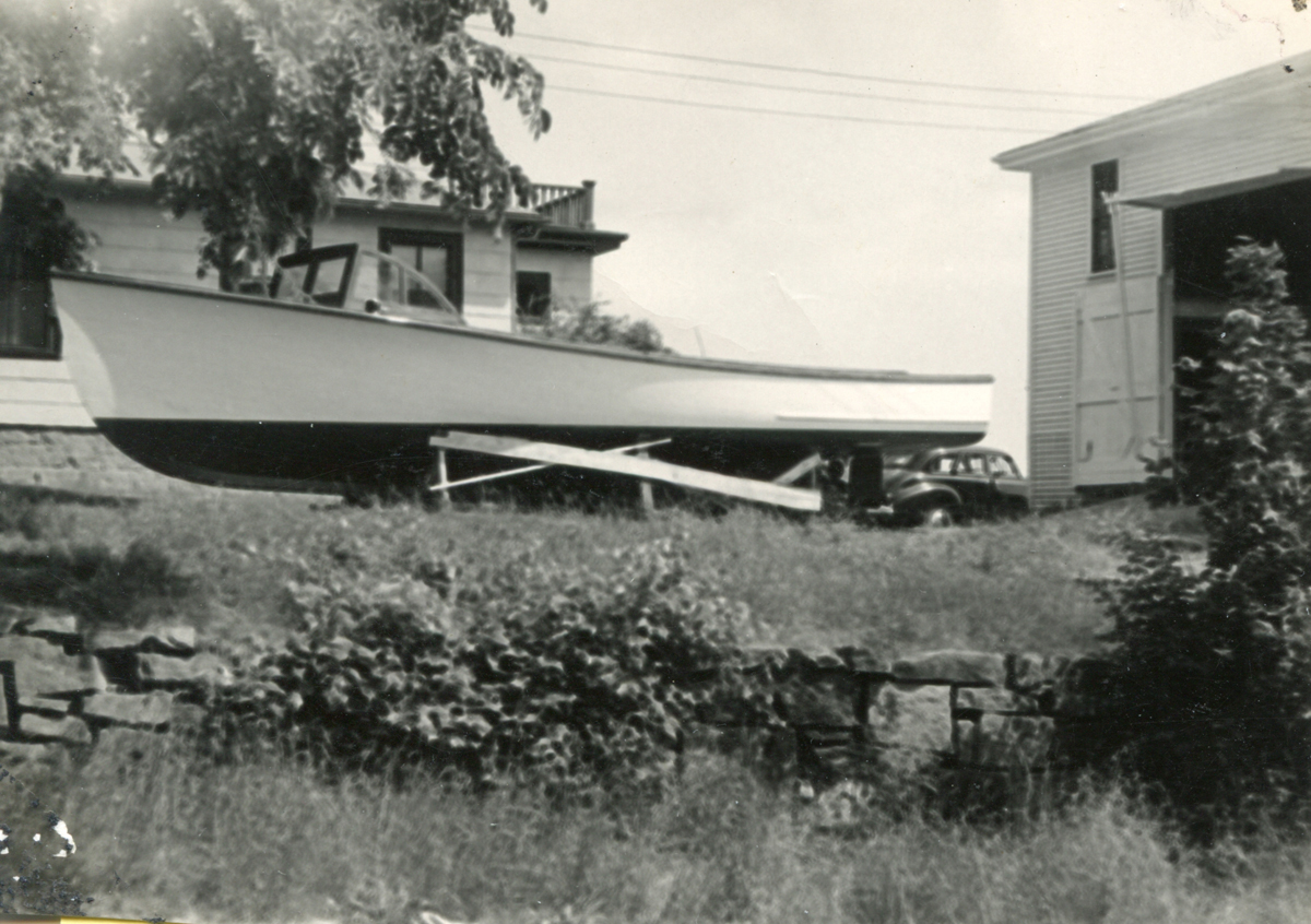 Open Streamlined Boat Built for Carroll Sargent Tyson, Jr.