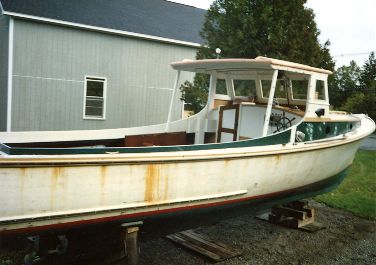 Lobster Boat Style Pleasure Boat Driftwood at Jarvis Newman's Boat Yard