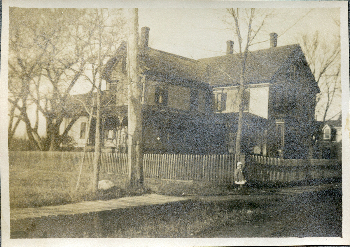 Sarah Tenney Carroll in Front of the Kittredge House