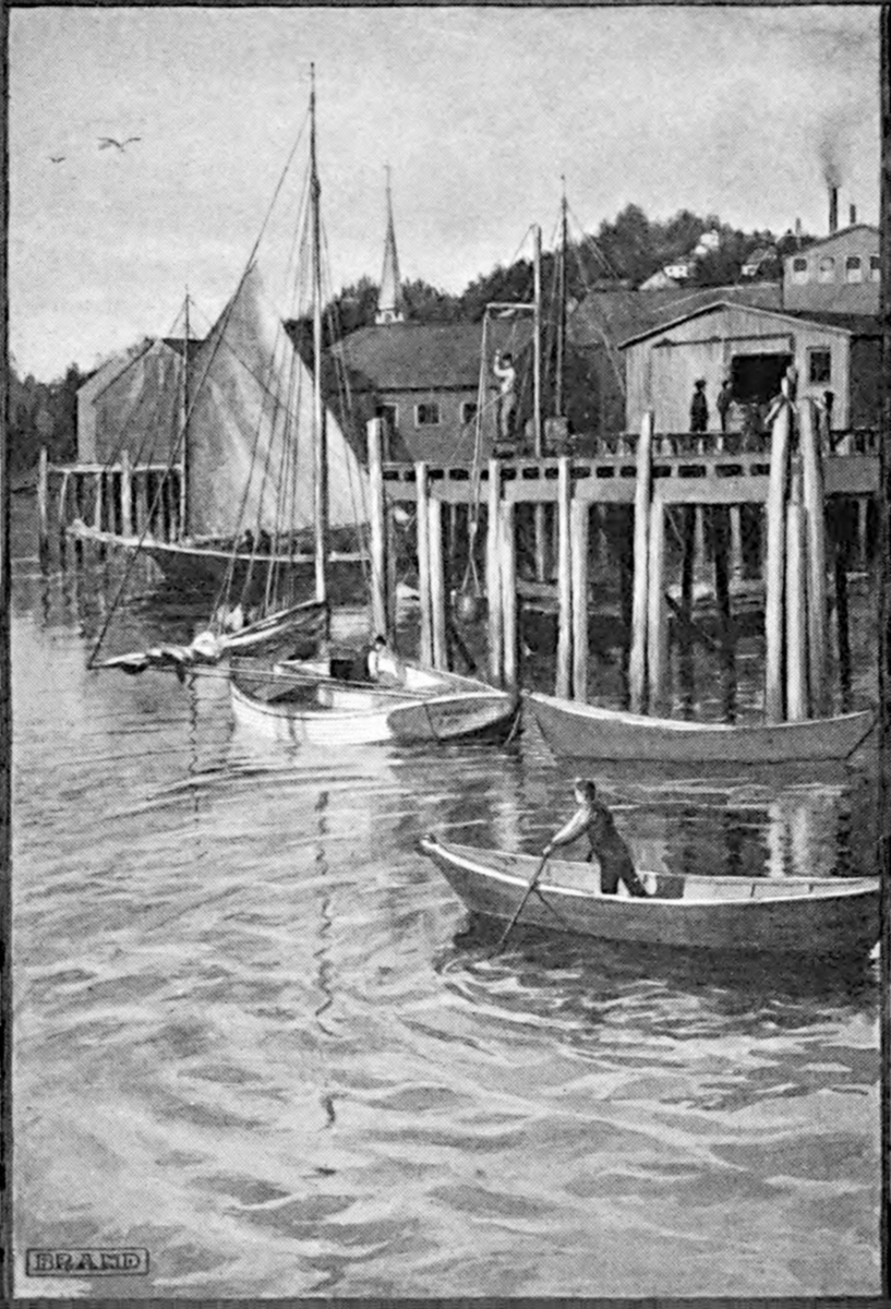 Fish Factory and Wharf at Echo Bluffs, Maine