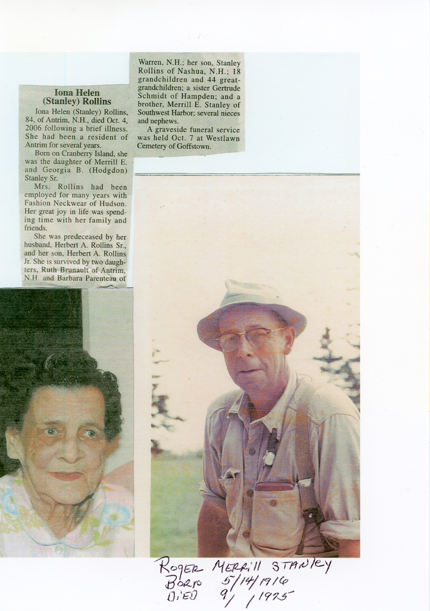 Obituary for Iona Helen (Stanley) Rollins