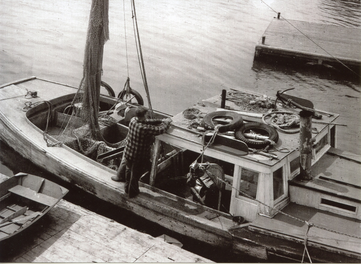 William L. Howell on His Fishing Vessel