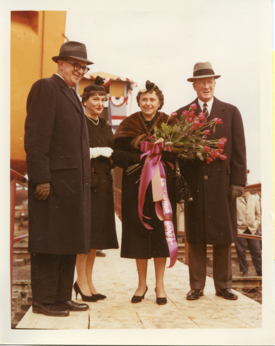 Mr. And Mrs. Arthur Bartlett Homer at the Launching of  Great Lakes Freighter, Arthur B. Homer