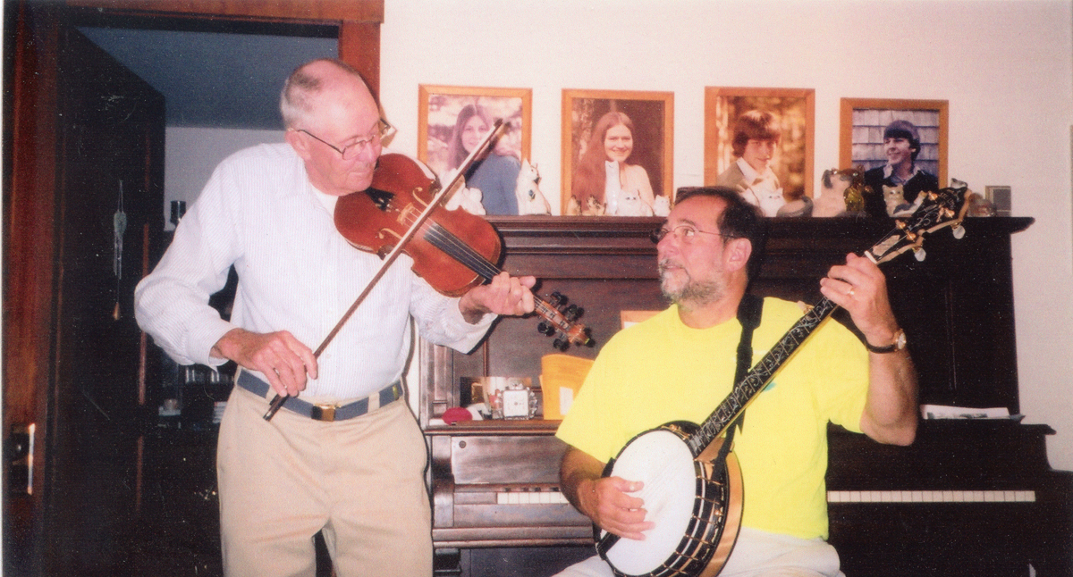 Ralph Warren Stanley Playing the Violin with Nevin C. Jackson on the Banjo