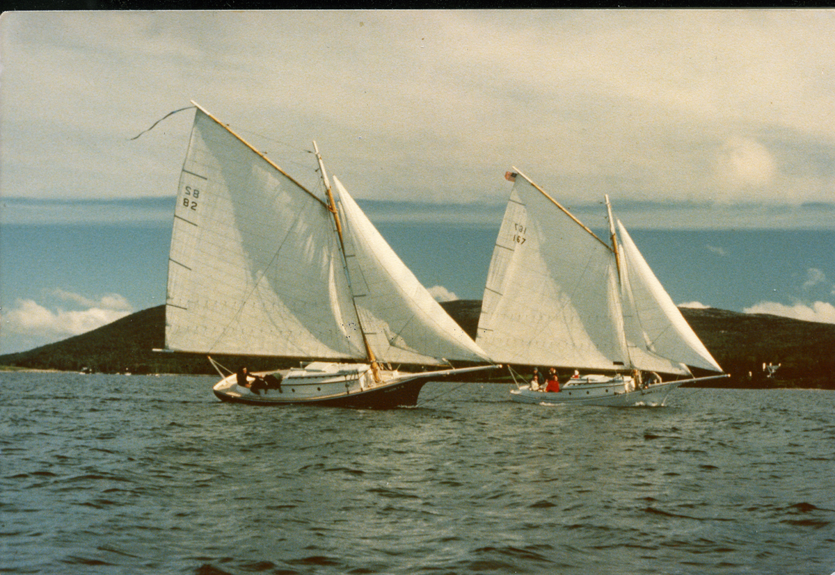 Friendship Sloops Morning Star and Freedom in Somes Sound