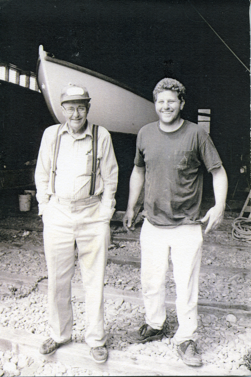 Ralph Warren Stanley and Richard Lewis Stanley at the Clark Point Road Boat Shop