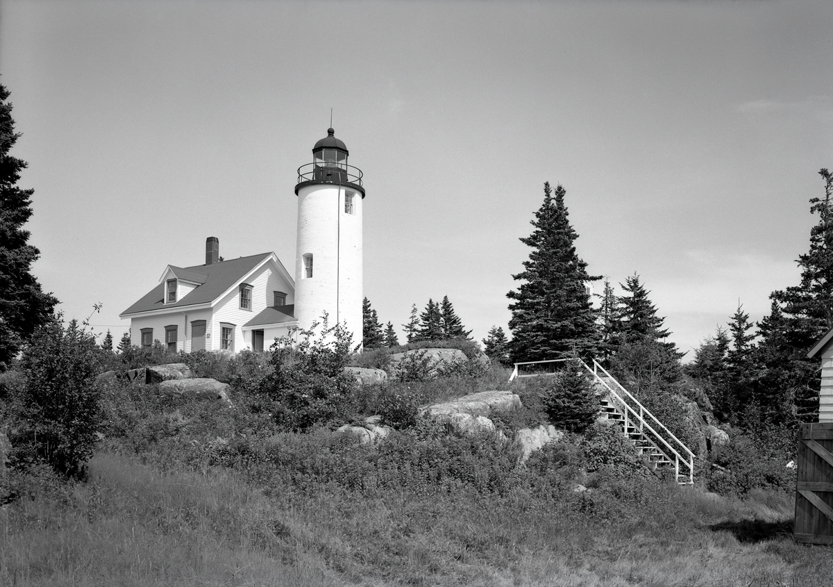 Baker Island Light Station from the Garage Drive