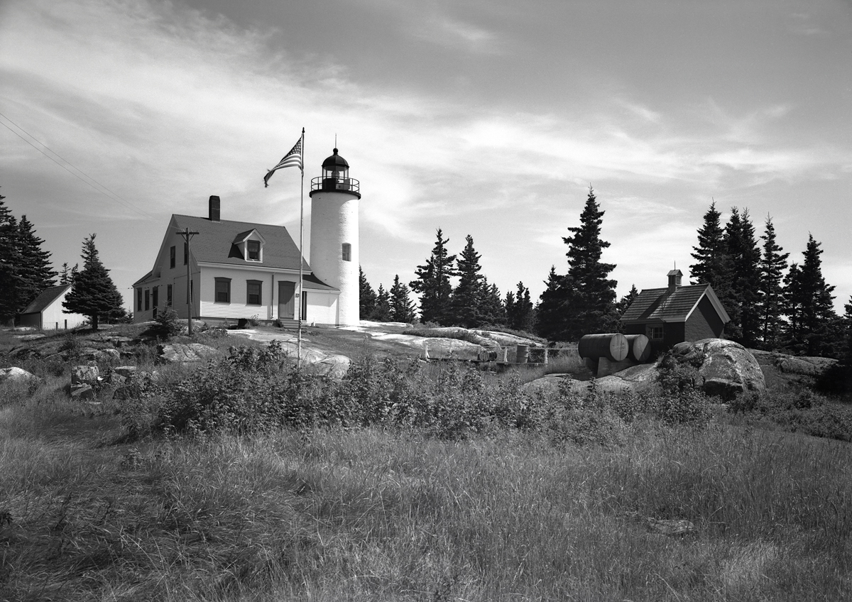 Baker Island Light Station From the Northeast