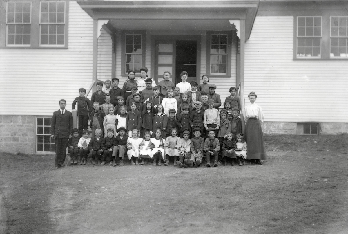 Teachers and Students at the Hall Quarry School