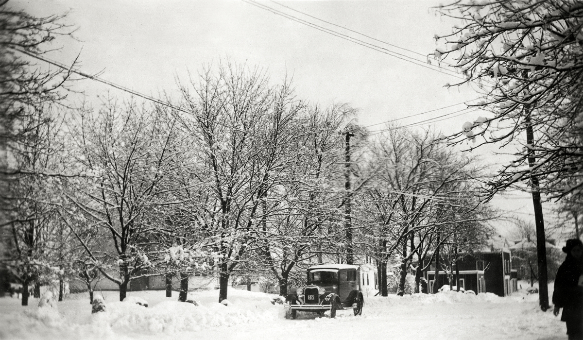 Clark Point Road in the Snow