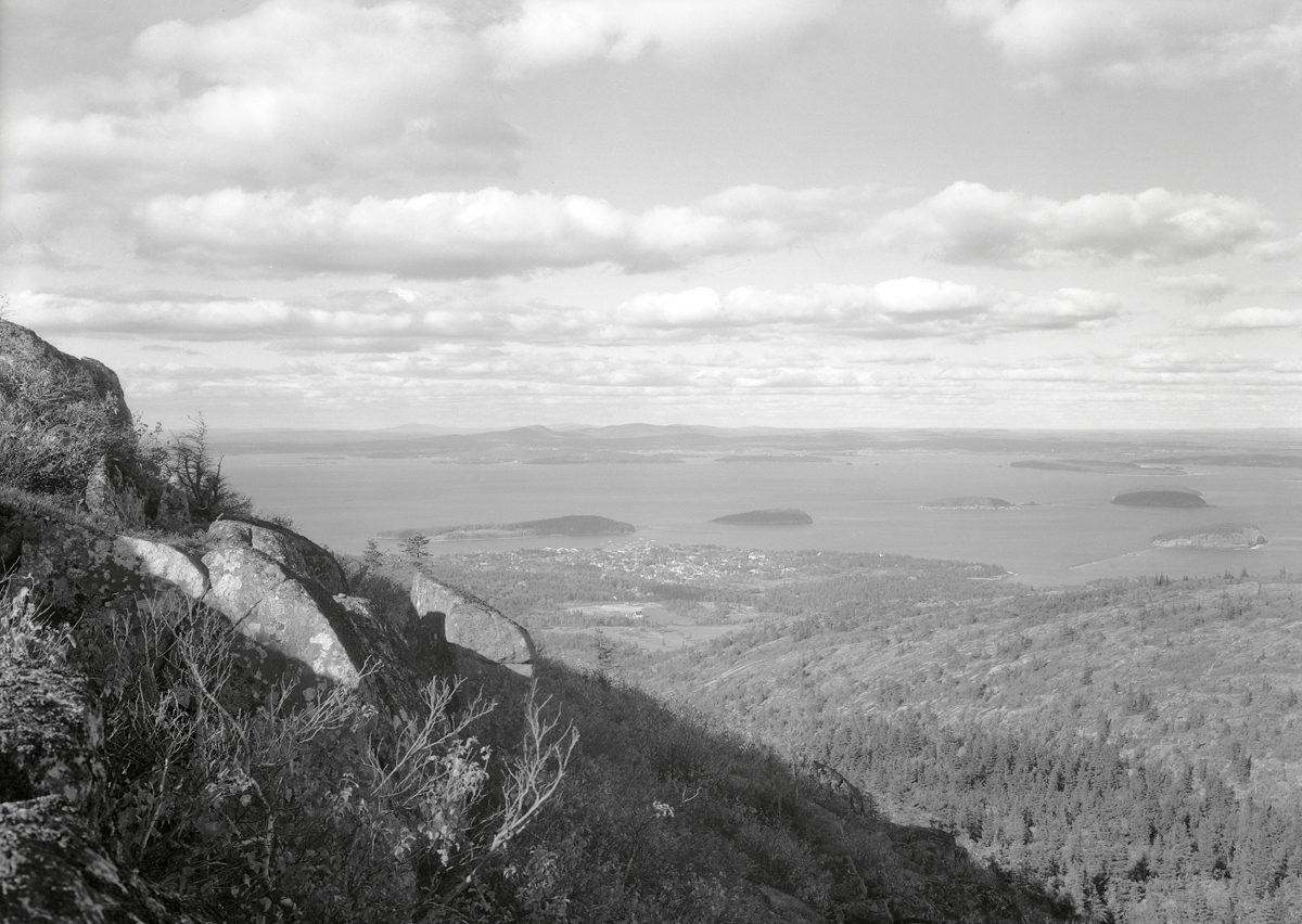 Bar Harbor and the Porcupine Islands from the Pulpit Rock Trail, Acadia National Park