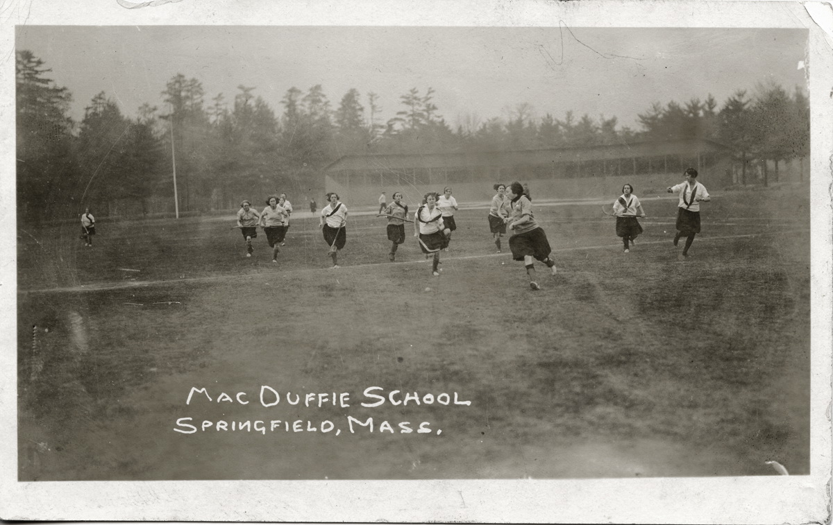 Ruth Mae Thurston Playing Field Hockey at the MacDuffie School for Girls